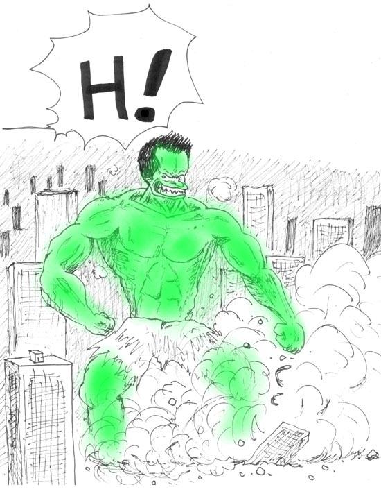 Cegetel Planete H Mr H Hulk l'incroyable Hulk King Kong Jour de paye Blog bd Dragon Ball Z